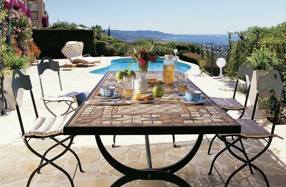 I materiali pi alla moda per l arredo da giardino - Set da giardino ferro battuto ...