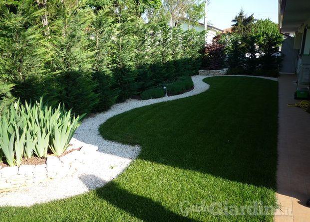 Progetto giardino moderno idea creativa della casa e - Giardino moderno design ...