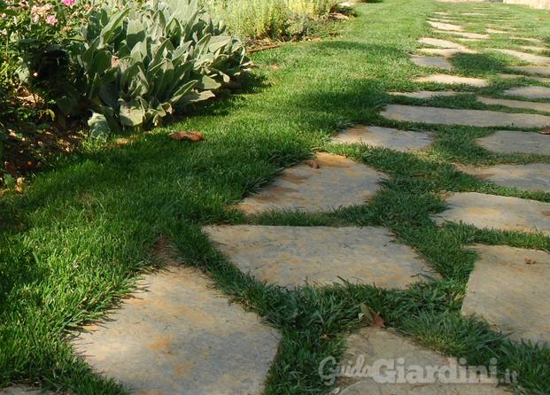 Immagini di fuoriforma - Pavimentazione giardino in pietra ...
