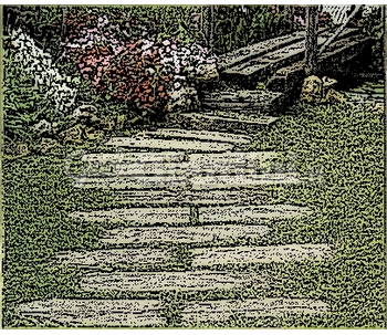 Camminamento in pietra - Camminamento pietra giardino ...